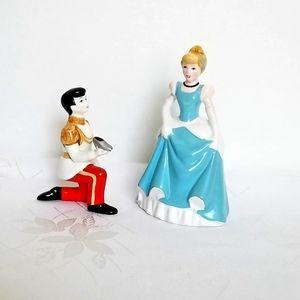 Disney Cinderella and Prince 1970s Figurines
